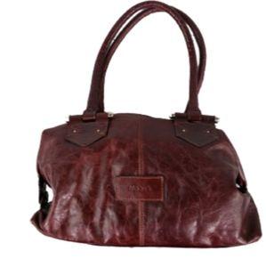Blaque of Argentina Mahogany Leather Handbag